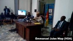 Issa Tchiroma annonce officiellement l'extradition vers le Cameroun de 47 sécessionnistes anglophones, Yaounde, le 29 janvier 2018