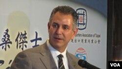 美国商务部副部长桑杰士(美国之音 张佩芝拍摄)