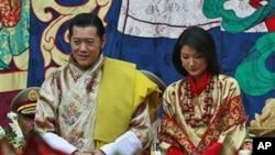 بھوٹان کے بادشاہ جگمے رشتہ ازدواج میں بندھ گئے