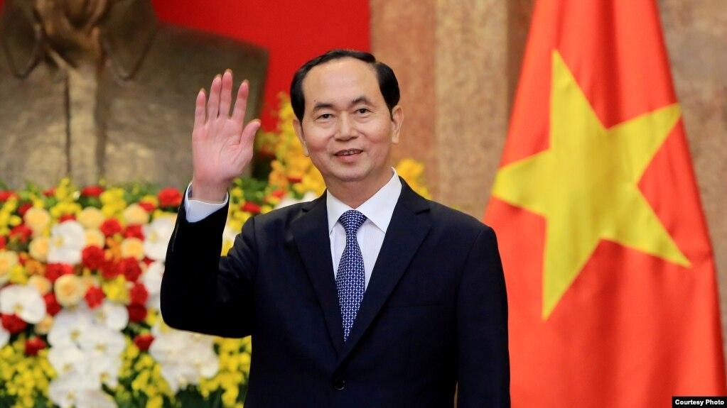 越南國家主席陳大光2018年3月23日參加一個活動