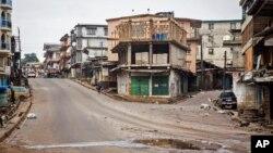 Prazne ulice u Sijera Leoneu