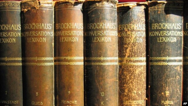 Not all sets of encyclopedias are this worn, but even newer editions are out of date for the millions who look online for reference material.