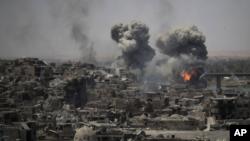 La coalición estadounidense informó que sólo combatientes de ISIS, fueron asesinados en los ataques.