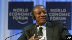 Guinea's President Alpha Conde, January 26, 2012.