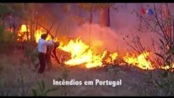 Península Ibérica a arder
