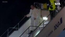 天主教教宗離開泰國前往日本大力倡導反核