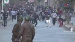 بھارتی کشمیر میں سکیورٹی فورسز کے خلاف مظاہرے