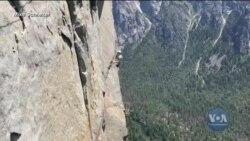 10-річна альпіністка піднялася на знамениту скелю Ель-Капітан у парку Йосеміті і встановила рекорд. Відео