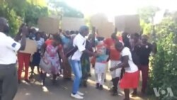Disgruntled Zanu PF Supporters Protesting Outside Party Offices