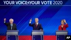 El exvicepresidente Joe Biden lidera la contienda por la nominación demócrata, según una reciente encuesta. Le siguen lasenadora de Massachusetts, Elizabeth Warren y el senador por Vermont, Bernie Sanders.