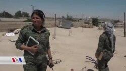 Jina Kurd Klara Peşengiya 30.000 Şervanên Rizkarkirina Reqa Dike
