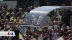 پاپا بەشداری لە ڕێوڕەسمێکی ئایینی لە سلۆڤاکیا دەکات