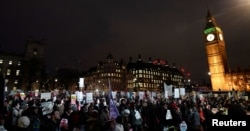 Britain Protest against Trump