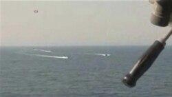 Iranian Revolutionary Guard Vessels Speed Close to US Ship