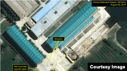 38線以北網站上傳的空中客車國防與航天衛星圖像,顯示朝鮮的一個海軍建設項目。