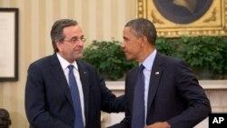Антонис Самарис и Барак Обама