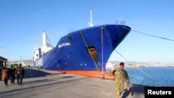 Jedan od dva teretna broda koja učestvuju u dansko-norveškoj misiji transport hemijskog oružja iz Sirije.
