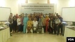 Pelatihan perangkat desa Cilacap dan Banyumas di Jawa Tengah untuk pencegahan perdagangan perempuan buruh migran2. (Foto: VOA/Nurhadi).