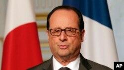 Le président français François Hollande, 20 mars 2017