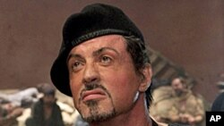 Sylvester Stallone, in the movie The Expendables, released in August 13th, 2010.