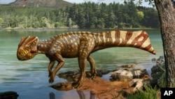 Artist's rendition of Koreaceratops hwaseongensis