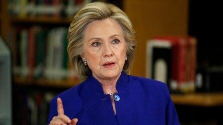 2015年5月5日希拉里.克林顿在内华达州就移民问题发表讲话。