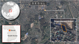 Sangwangsimni Station, Seoul, South Korea.