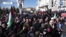 ABD'nin Ortadoğu Planı İstanbul'da Protesto Edildi