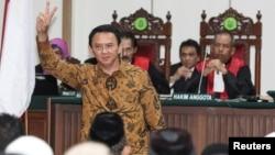 Basuki Tjahaja Purnama alias Ahok dalam sidang kasus penistaan agama di Jakarta, 3 Januari 2017 (foto: dok).