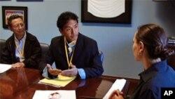"""在美國的西藏支持者於""""西藏游說日""""到國會進行游說工作"""