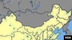 Peta Tiongkok menunjukkan lokasi Nanjing, ibukota provinsi Jiangsu di bagian timur Tiongkok.