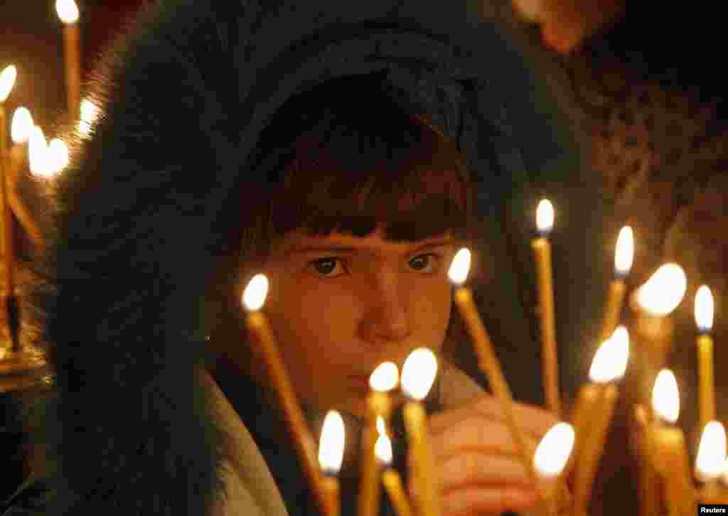Рождество. Казанский собор в Санкт-Петербурге