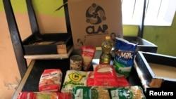 Venezuela'da devlet tarafından dağıtılan gıda yardım paketi