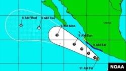 El Centro Nacional de Huracanes de Estados Unidos está siguiendo la evolución de la tormenta tropical Erick en el Pacífico.