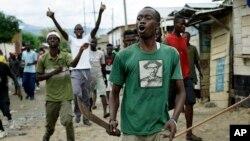 6일 부룬디 부줌부라에서 대통령의 3선 도전에 반대하는 반정부 시위가 계속됐다.