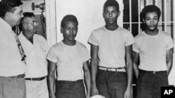 Florida Gov. Ron DeSantis and a Cabinet granted posthumous pardons Friday, Jan. 11, 2019, to Shepherd, Irvin, Charles Greenlee and Ernest Thomas, the four African-American men accused of raping a white woman in 1949 in a case now seen as a racial injustice.