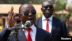 Umukuru w'inama nshingamateka y'imfatakibanza, ,u gihugu ca Republika ya Centre Afrika, Alexandre-Ferdinand Nguendet.