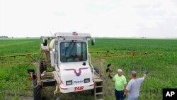 Agricultores en una granja de Illinois, en la región central de Estados Unidos.