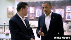2013年6月7日,美国总统奥巴马和中国国家主席习近平在加州会谈