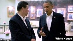 2013年6月7日,美国总统奥巴马和中国国家主席习近平加州会谈。