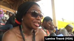 Marie Agnès Dorgo, festivalière franco-burkinabè à la 26e édition du Fespaco à Ouagadougou, le 23 février 2019. (VOA/Lamine Traoré)