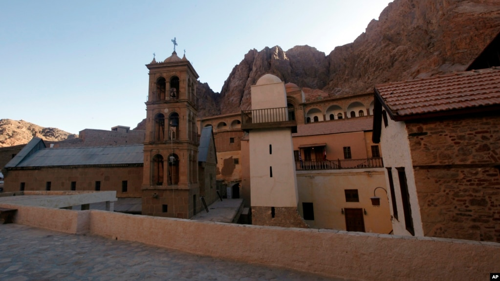 A view of Saint Catherine monastery                  in South Sinai, Egypt, Dec. 16, 2017, where an                  inauguration ceremony was held for the opening of the                  ancient library.