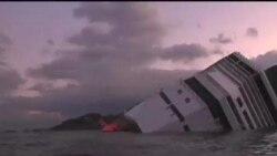 ادامه جستجو برای يافتن بازماندگان در کشتی سرنگون شده ايتاليايی