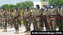 Soldats tchadiens attaqués par les forces centrafricaines sur leur territoire, le 2 juin 2021.