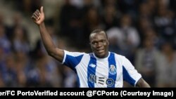 L'international camerounais Vincent Aboubakar a prolongé avec le FC Porto jusqu'en 2021. (Twitter/FC Porto‏Verified account @FCPorto)