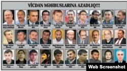 Vicdan məhbusları (Foto Əli Kərimlinin Facebook səhifəsindən götürülüb)