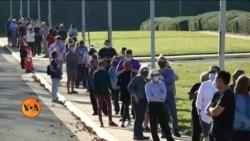 امریکی انتخابات: 'ارلی ووٹنگ' کے لیے لمبی قطاریں