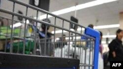 沃尔玛超市内