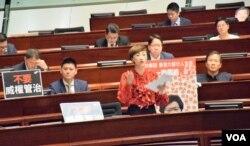 香港立法會議員陳淑莊。(美國之音湯惠芸)
