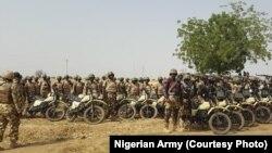 Sojojin Najeriya a kan babura domin zakulo 'yan Boko Haram